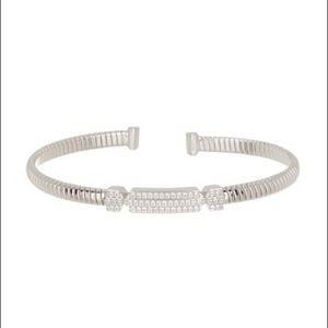 NADRI CZ Geo Wide Flexi Cuff Bracelet